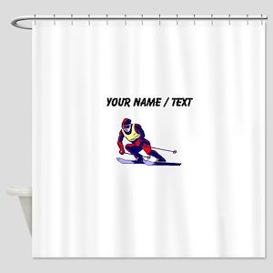 Custom Ski Racer Shower Curtain