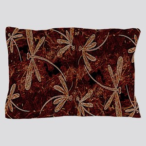 Dragonfly Flit Toffee Pillow Case
