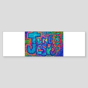 Tune Into Jesus 001 Bumper Sticker