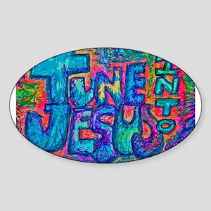 Tune Into Jesus 001 Sticker