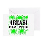 Area 51 Clean-Up Crew Greeting Card