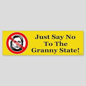 Just Say No Granny State Sticker (Bumper)