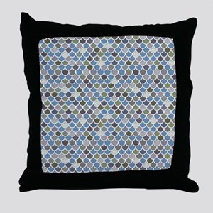 Overlapping Scallops Throw Pillow