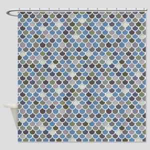 Overlapping Scallops Shower Curtain