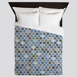 Overlapping Scallops Queen Duvet