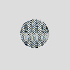 Overlapping Scallops Mini Button