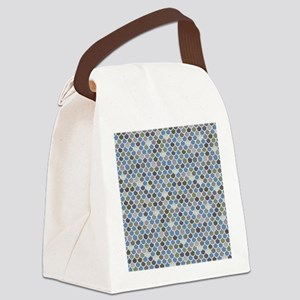 Overlapping Scallops Canvas Lunch Bag