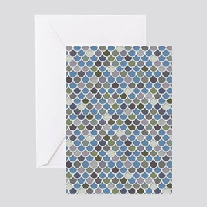 Overlapping Scallops Greeting Card