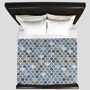 Overlapping Scallops King Duvet