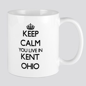 Keep calm you live in Kent Ohio Mugs