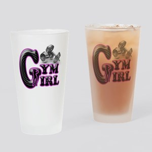 Gym Girl Design 1c Drinking Glass