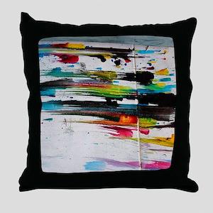Paint Fight Throw Pillow