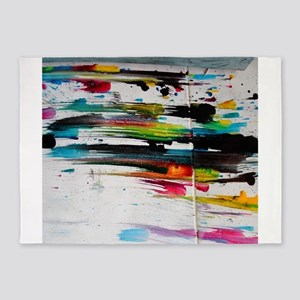 Paint Fight 5'x7'Area Rug