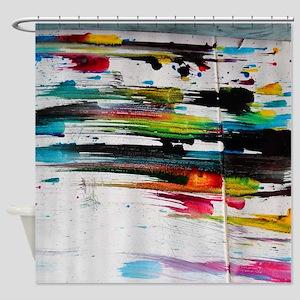 Paint Fight Shower Curtain