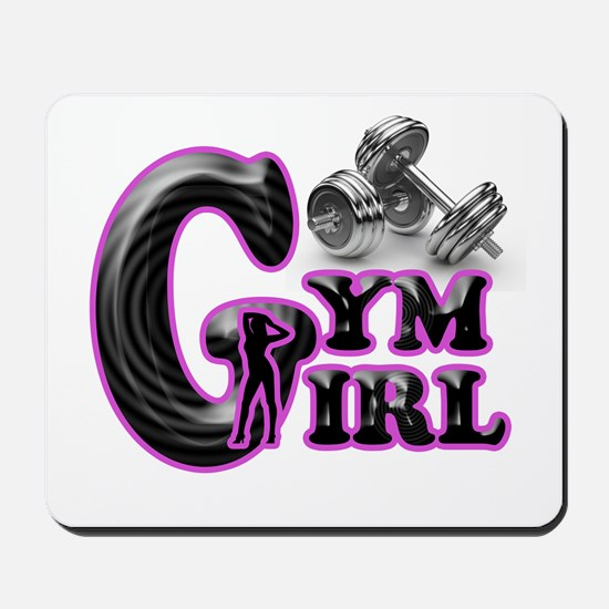 Gym Girl Design 1c Mousepad