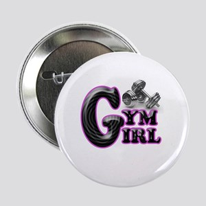 "Gym Girl Design 1b 2.25"" Button"