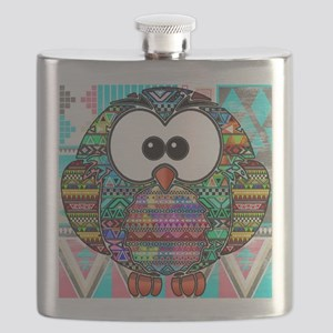owl aztec Flask