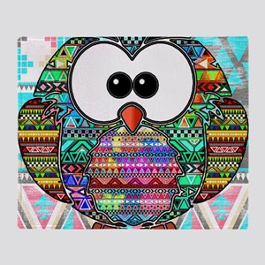 owl aztec Throw Blanket