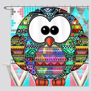 owl aztec Shower Curtain