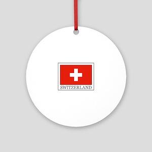 Switzerland Ornament (Round)