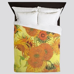 Van Gogh Sunflowers Queen Duvet