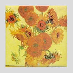 Van Gogh Sunflowers Tile Coaster