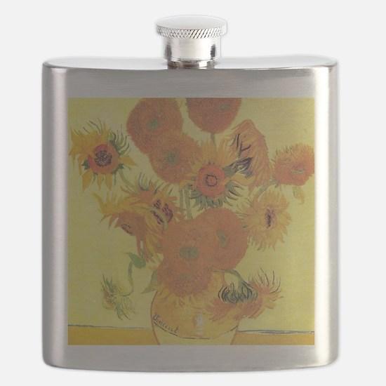 Van Gogh Sunflowers Flask