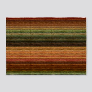 Colorful Blinds 5'x7'Area Rug