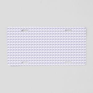 Circle Impression Aluminum License Plate
