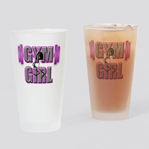 Gym Girl Design 4 Drinking Glass