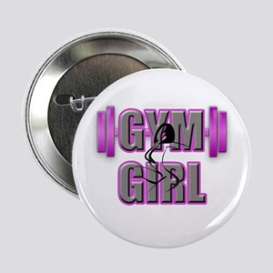 "Gym Girl Design 4 2.25"" Button"