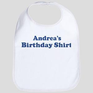 Andrea birthday shirt Bib