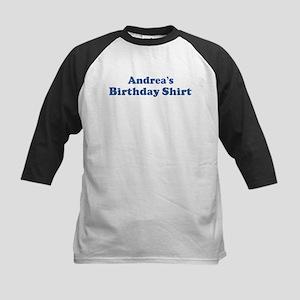 Andrea birthday shirt Kids Baseball Jersey