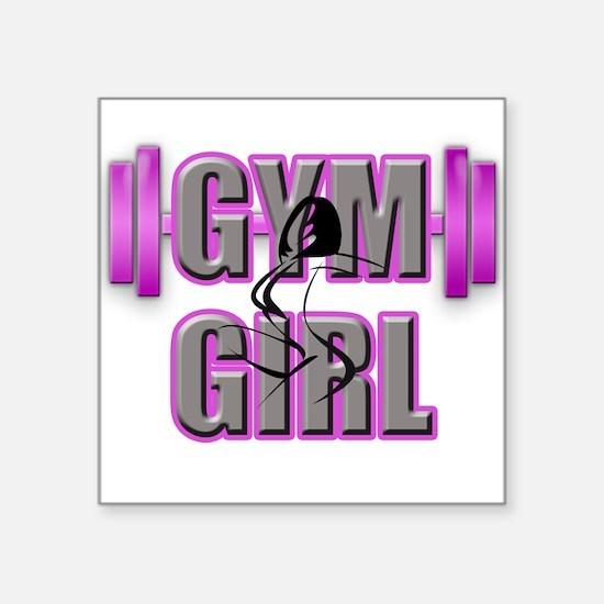 Gym Girl Design 4 Sticker