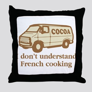 Cocoa Van French Cooking Throw Pillow