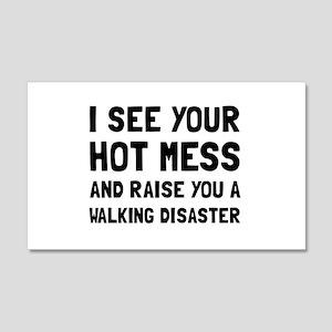 Hot Mess Walking Disaster Wall Decal