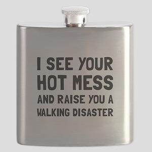 Hot Mess Walking Disaster Flask