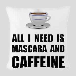 Mascara And Caffeine Woven Throw Pillow