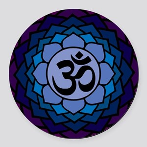 ohm02lotus Round Car Magnet