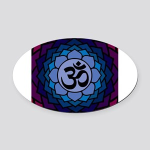 ohm02lotus Oval Car Magnet