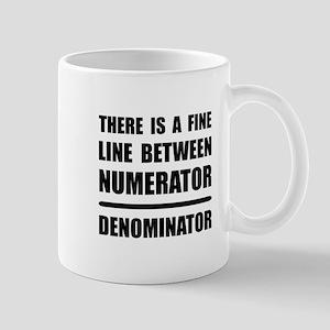 Numerator Denominator Mugs