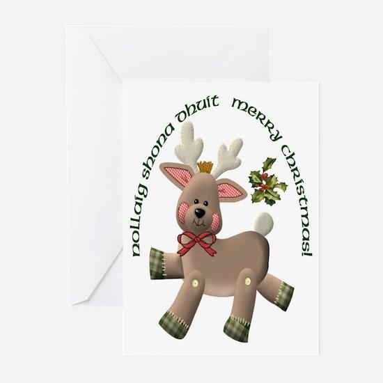 Christmas Reindeer (Irish/English) Cards (20)
