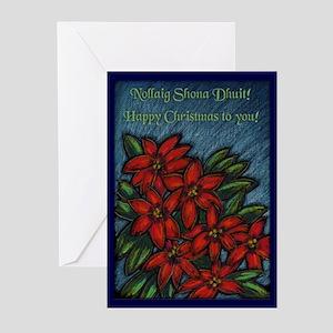 Poinsettia Bouquet Christmas Cards (Pk of 20)