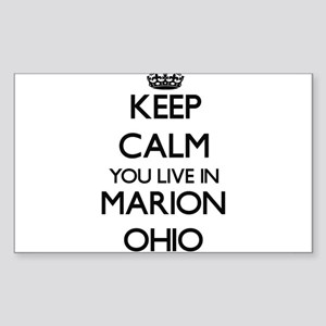 Keep calm you live in Marion Ohio Sticker