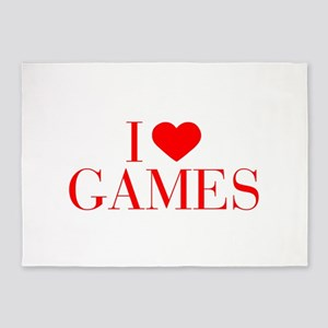 I love Games-Bau red 500 5'x7'Area Rug