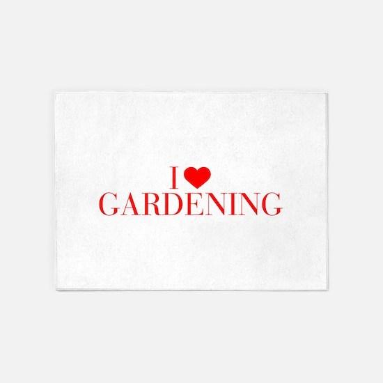 I love Gardening-Bau red 500 5'x7'Area Rug
