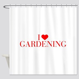I love Gardening-Bau red 500 Shower Curtain