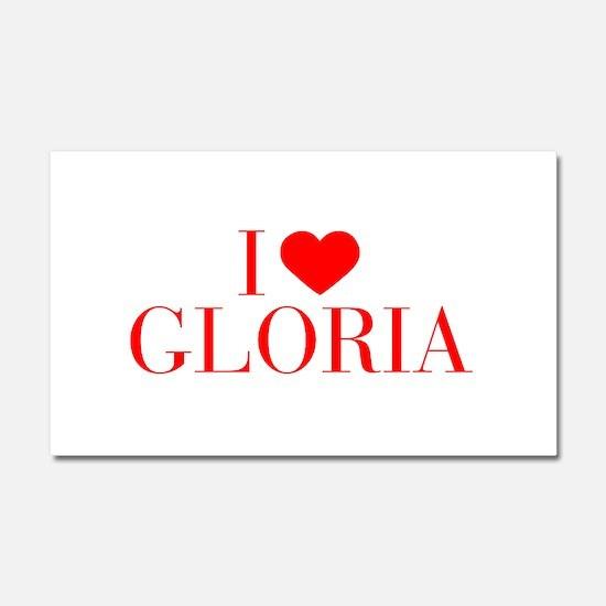 I love GLORIA-Bau red 500 Car Magnet 20 x 12