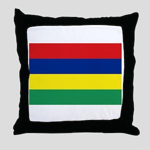 Mauritian Flag Throw Pillow