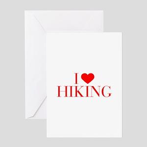 I love Hiking-Bau red 500 Greeting Cards